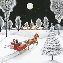 Buy Ling Design On Horse Sleigh Charity Christmas Cards, Box of 6 Online at johnlewis.com