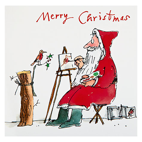 Buy Woodmansterne Quentin Santa Charity Christmas Cards, Box of 5 Online at johnlewis.com