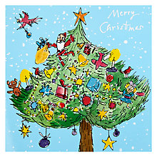 Buy Woodmansterne Quentin Christmas Tree Charity Christmas Cards, Box of 5 Online at johnlewis.com