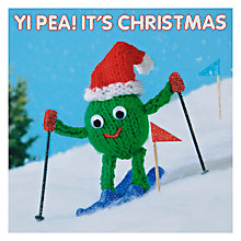 Buy Mint Skiing Pea Charity Christmas Cards, Box of 5 Online at johnlewis.com