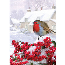 Buy Ling Design Village Robin Charity Christmas Cards, Box of 5 Online at johnlewis.com