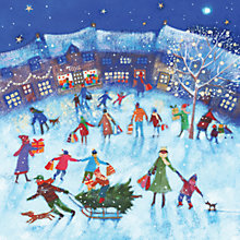 Buy Ling Design Village Shopping Charity Christmas Cards, Box of 6 Online at johnlewis.com