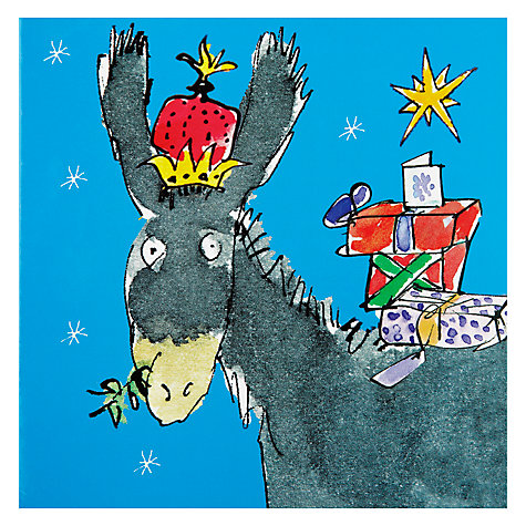 Buy Woodmansterne Quentin Blake Donkey Charity Christmas Cards, Box of 5 Online at johnlewis.com