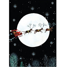 Buy Ling Design Santa In Sleigh Charity Christmas Cards, Box of 5 Online at johnlewis.com
