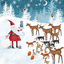 Buy Ling Design Santa With Gifts Charity Christmas Cards, Box of 6 Online at johnlewis.com