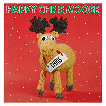 Buy Mint Chris Moose Charity Christmas Cards, Box of 5 Online at johnlewis.com