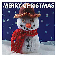 Buy Mint Snowman Charity Christmas Cards, Box of 5 Online at johnlewis.com
