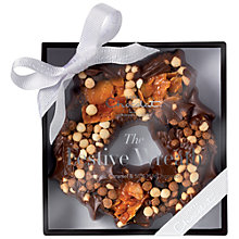 Buy Hotel Chocolat Cookie and Caramel Festive Chocolate Wreath, 100g Online at johnlewis.com