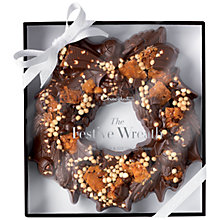 Buy Hotel Chocolat Cookie and Caramel Festive Chocolate Wreath, 450g Online at johnlewis.com
