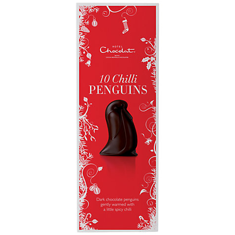 Buy Hotel Chocolat Dark Chocolate Chilli Penguins, 110g Online at johnlewis.com