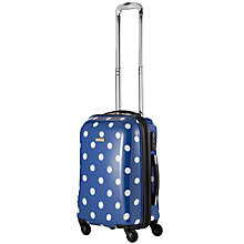 Buy John Lewis Martha Spot 4 Wheel Cabin Case, Navy Online at johnlewis.com