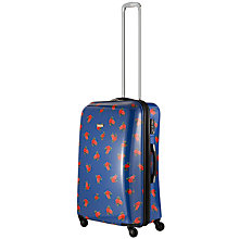 Buy John Lewis Martha Floral 4 Wheel Cabin Case, Navy Online at johnlewis.com