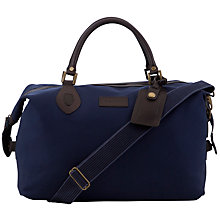 Buy Barbour Tartan Cotton Canvas Explorer, Navy Online at johnlewis.com