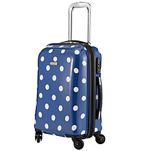 Buy John Lewis Martha Spot 4 Wheel Medium Hard Case, Navy Online at johnlewis.com