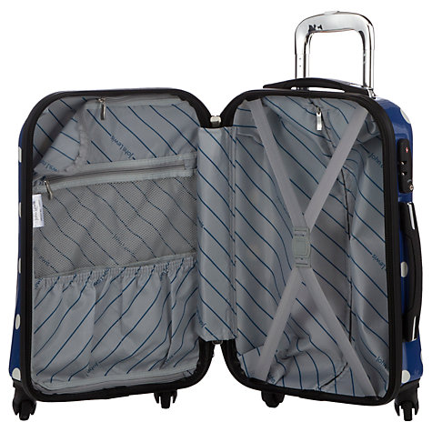 Buy John Lewis Martha Spot 4 Wheel Large Hard Case, Navy Online at johnlewis.com