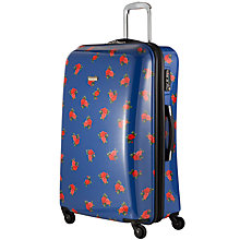 Buy John Lewis Martha Floral 4 Wheel Large Hard Case, Navy Online at johnlewis.com