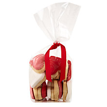 Buy Image on Food Bag Of Heart Cookies, Pack of 12 Online at johnlewis.com