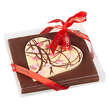 Buy Cocoa Bean Company Milk Chocolate Heart Slab, 120g Online at johnlewis.com