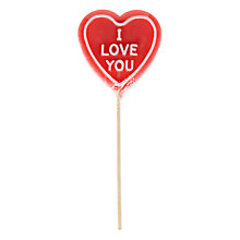 Buy Natural Candy 'I Love U' Heart Lolly, 65g Online at johnlewis.com
