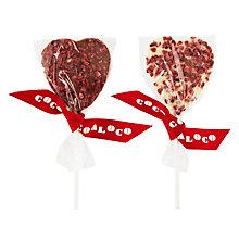 Buy Cocoa Loco Chocolate and Raspberry Lolly, 18g Online at johnlewis.com