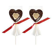 Buy Chococo Milk Chocolate Heart Lolly, Assorted Online at johnlewis.com