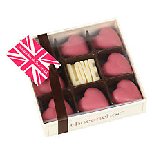 Buy Choc on Choc Raspberry White Chocolate Hearts, 100g Online at johnlewis.com
