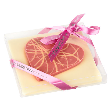 Buy Cocoabean Company White Chocolate Heart Slab, 120g Online at johnlewis.com