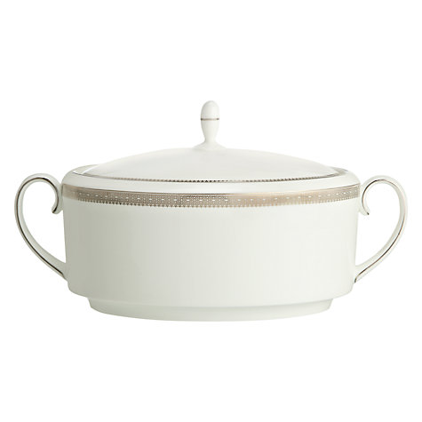 Buy Vera Wang for Wedgwood Lace Platinum Soup Tureen Online at johnlewis.com