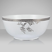 Buy Vera Wang for Wedgwood Lace Platinum Salad Bowl Online at johnlewis.com