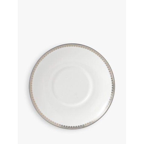 Buy Vera Wang for Wedgwood Lace Platinum Coffee Saucer Online at johnlewis.com