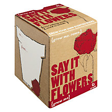 Buy Say it With Flowers Scented Rose Seed Gift Set Online at johnlewis.com