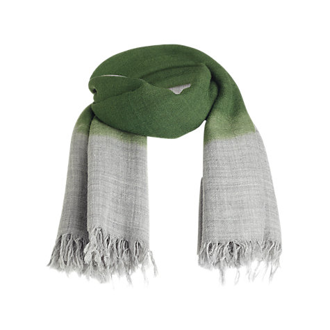 Buy Jigsaw Ines Square Scarf, Green Online at johnlewis.com