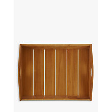 Buy John Lewis Slatted Wood Tray Online at johnlewis.com