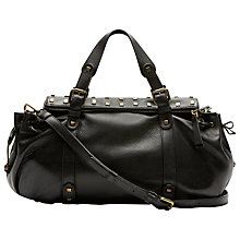 Buy Gérard Darel Blossom Phoenix Leather Bag, Black Online at johnlewis.com