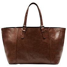 Buy Gérard Darel Simple Bahia Leather Bag, Brown Online at johnlewis.com