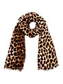 Oasis Leopard Print Scarf, Light Neutral
