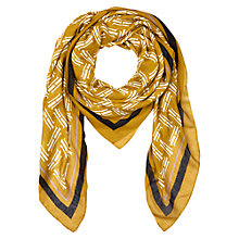 Buy Hobbs Signature Sign Scarf, Mustard Online at johnlewis.com