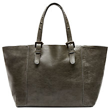 Buy Gérard Darel Mini Bahia Leather Bag, Grey Online at johnlewis.com
