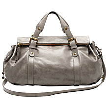 Buy Gérard Darel Blossom Broadway Leather Bag, Grey Online at johnlewis.com
