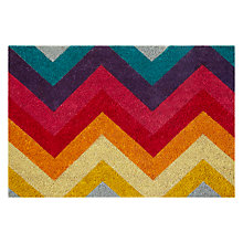 Buy John Lewis Zig Zag Doormat, L50 x W75cm, Multi Online at johnlewis.com