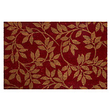 Buy John Lewis Leaf Trail Doormat, Red Online at johnlewis.com