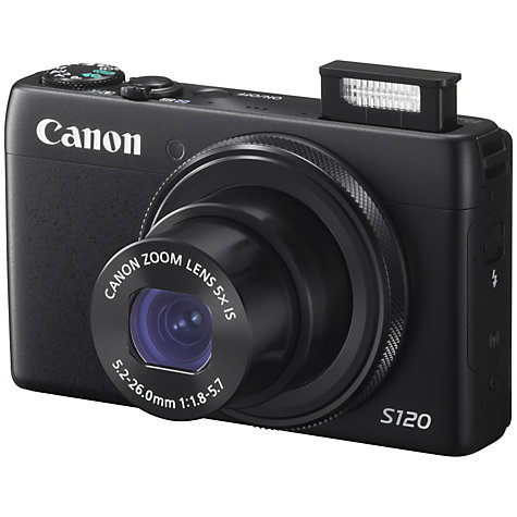 Buy Canon PowerShot S120 Digital Camera, HD 1080p, 12.1MP, 5x Optical Zoom, Wi-Fi, GPS, 3