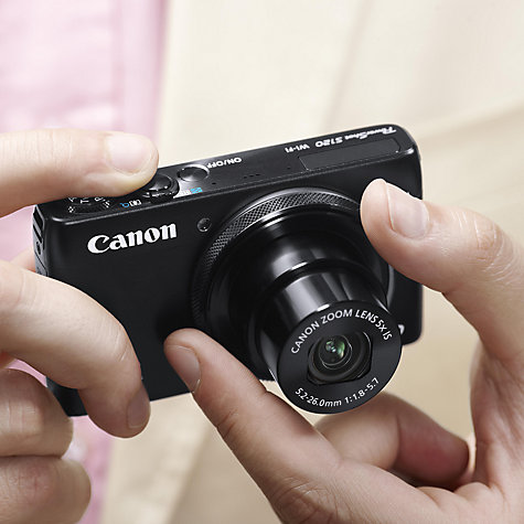 "Buy Canon PowerShot S120 Digital Camera, HD 1080p, 12.1MP, 5x Optical Zoom, Wi-Fi, GPS, 3"" Touch Screen Online at johnlewis.com"