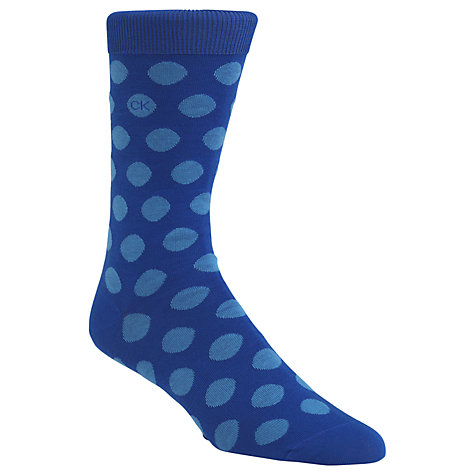 Buy Calvin Klein Big Dot Fine Egyptian Cotton Socks, One Size, Blue Online at johnlewis.com