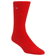 Buy Calvin Klein Essential Ribbed Combed Cotton Socks, One Size, Red Online at johnlewis.com
