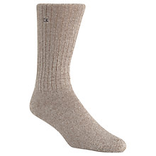 Buy Calvin Klein Essential Ribbed Socks, Khaki, One Size Online at johnlewis.com