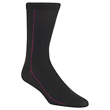 Buy Calvin Klein Vertical Logo Stripe Socks, One Size, Navy/Pink Online at johnlewis.com