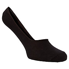 Buy John Lewis Trainer Socks, Black, One Size, Pack of 3 Online at johnlewis.com
