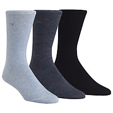 Buy Calvin Klein Flat Knit Socks, Pack of 3, One Size, Blue Online at johnlewis.com