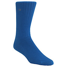 Buy Calvin Klein Essential Ribbed Combed Cotton Socks, One Size, Blue Online at johnlewis.com